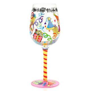 """Top Shelf """"Happy Birthday"""" 15-oz. Wine Glass"""