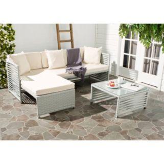 Safavieh Likoma Wicker 3-piece Outdoor Furniture Set