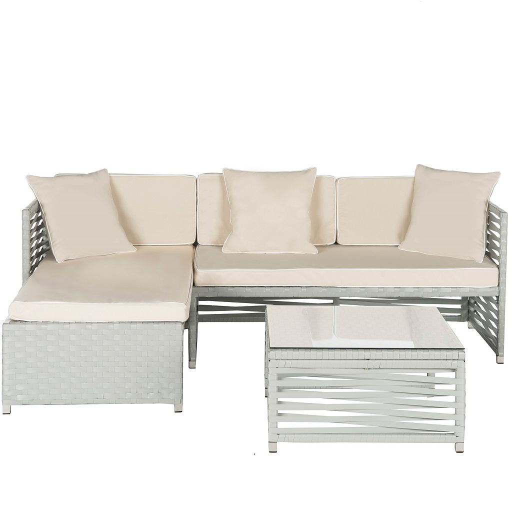 Safavieh Likoma Wicker 3-piece Outdoor Furniture Set