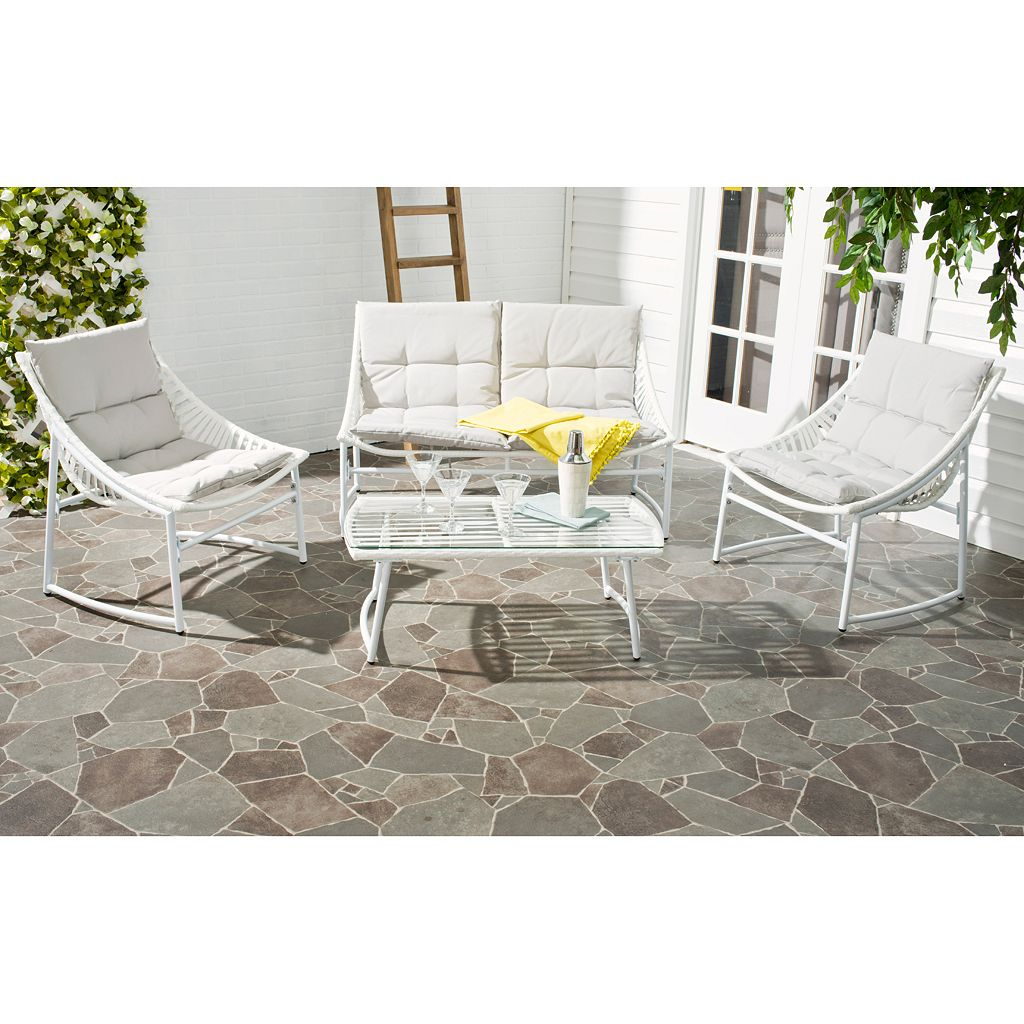 Safavieh Berkane 4-piece Outdoor Furniture Set