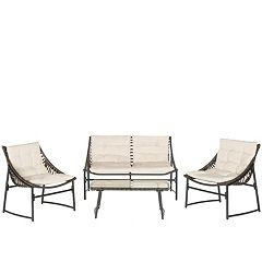 Safavieh Berkane 4 pc Outdoor Furniture Set