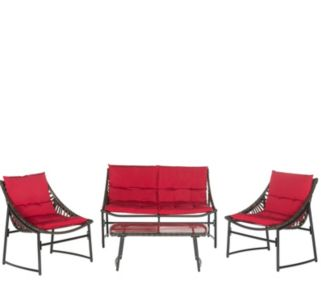 Safavieh Berkane 4-piece Outdoor Furniture Set