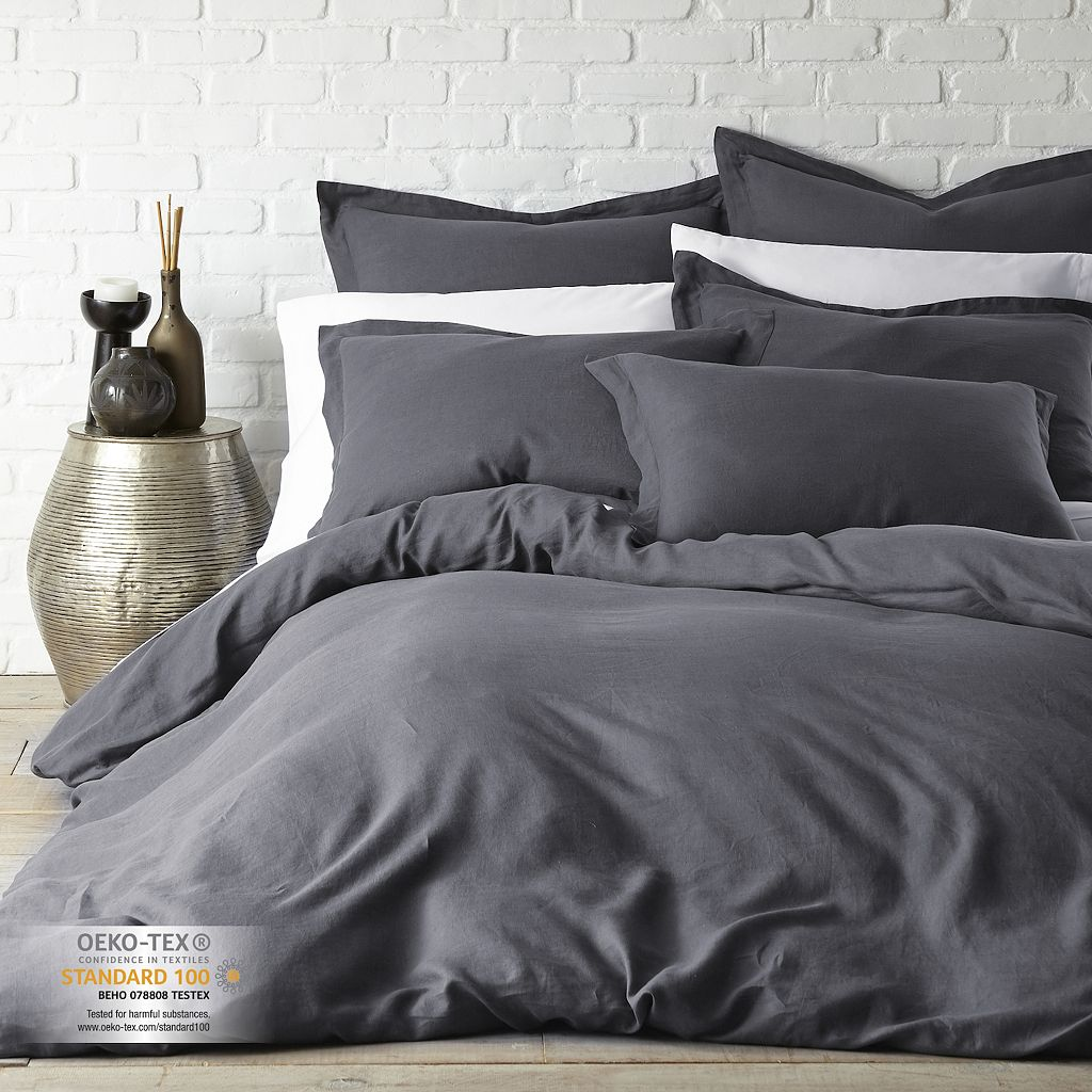 Solid Print Duvet Cover Set