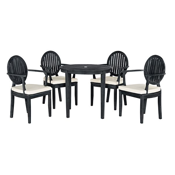 Safavieh Chino Indoor Outdoor Dining Table Chair 5 Piece Set