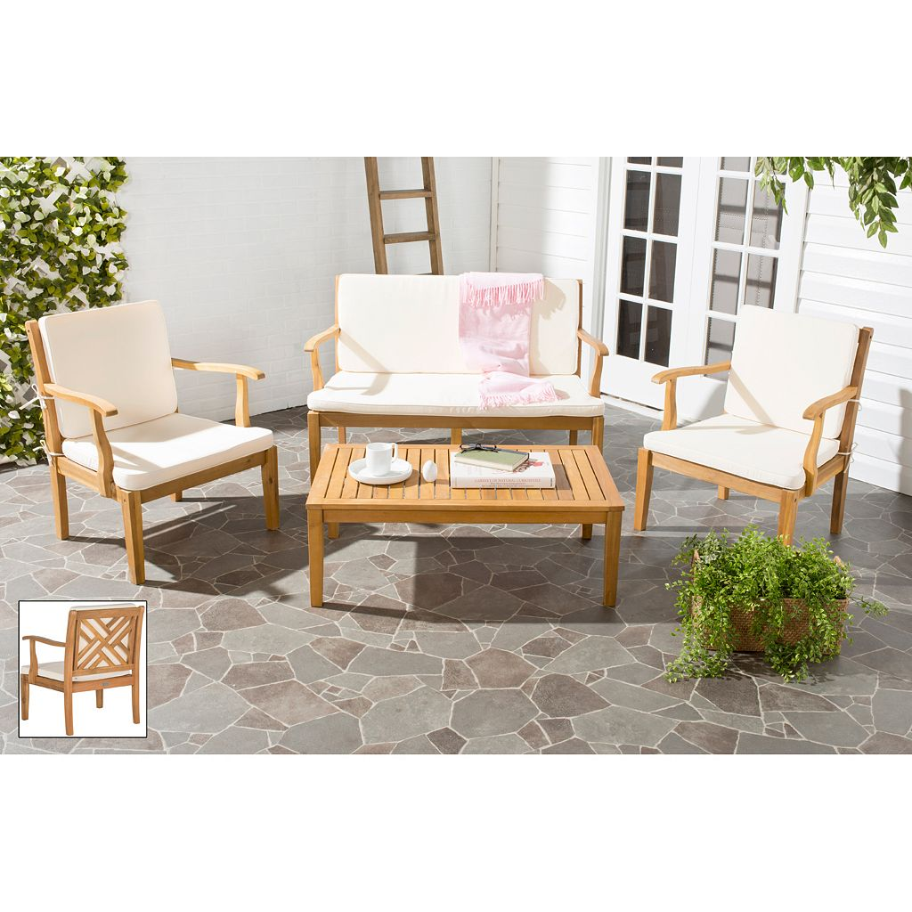 Safavieh Bradbury 4-piece Outdoor Living Set