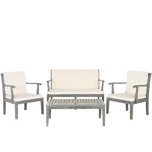 Safavieh Bradbury Indoor / Outdoor Loveseat, Chair & Coffee Table 4-piece Set