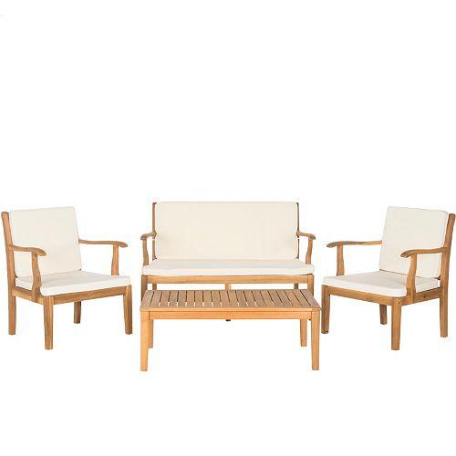 Safavieh Bradbury 4-piece Outdoor Living Set