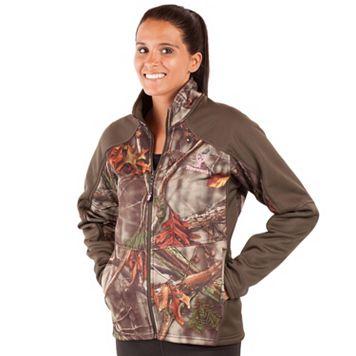 Women's Huntworth Lifestyle Camo Fleece-Lined Soft Shell Hiking Jacket