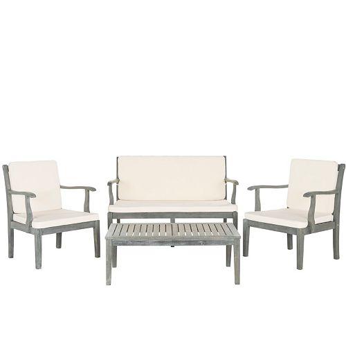 Safavieh Fresno Indoor / Outdoor Loveseat, Chair & Coffee Table 4-piece Set