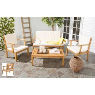 Safavieh Montclair 4-piece Outdoor Living Set