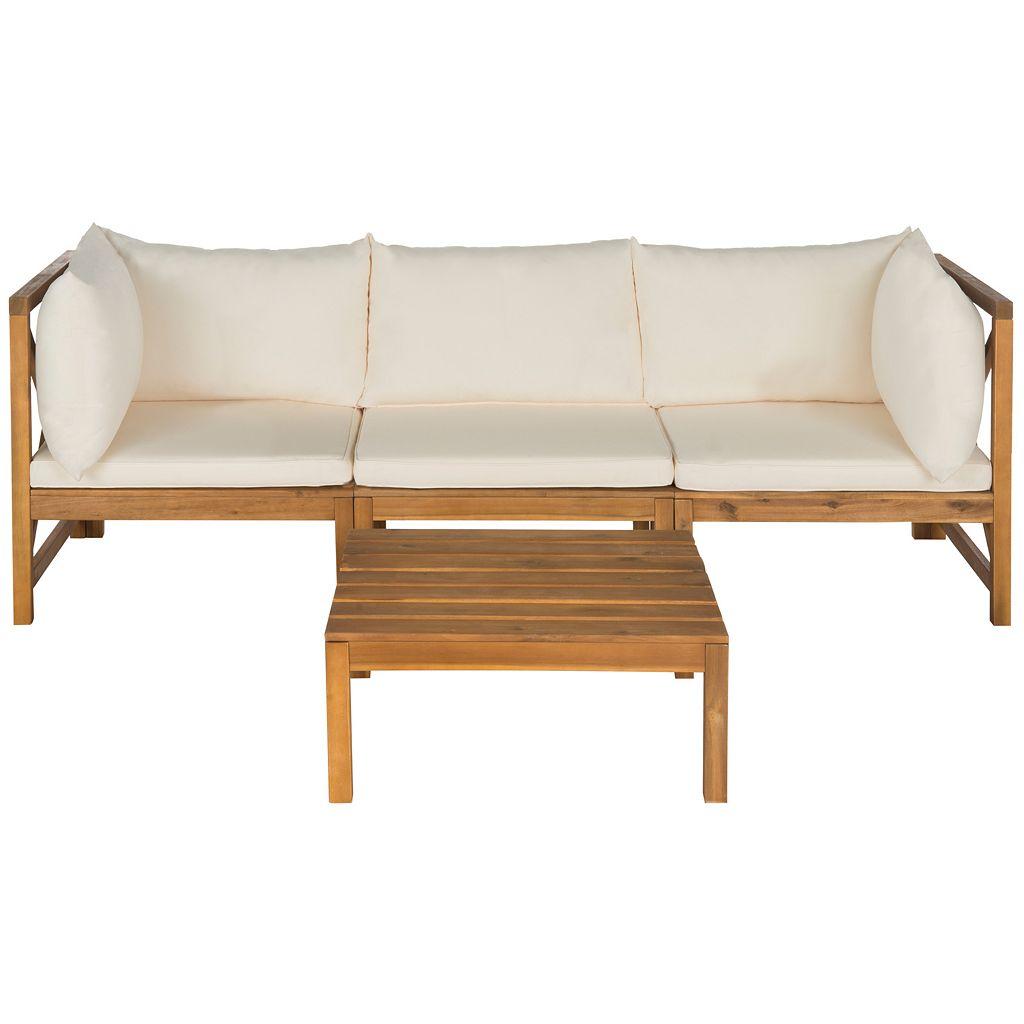Safavieh Lynwood 3-piece Outdoor Sectional Sofa Set