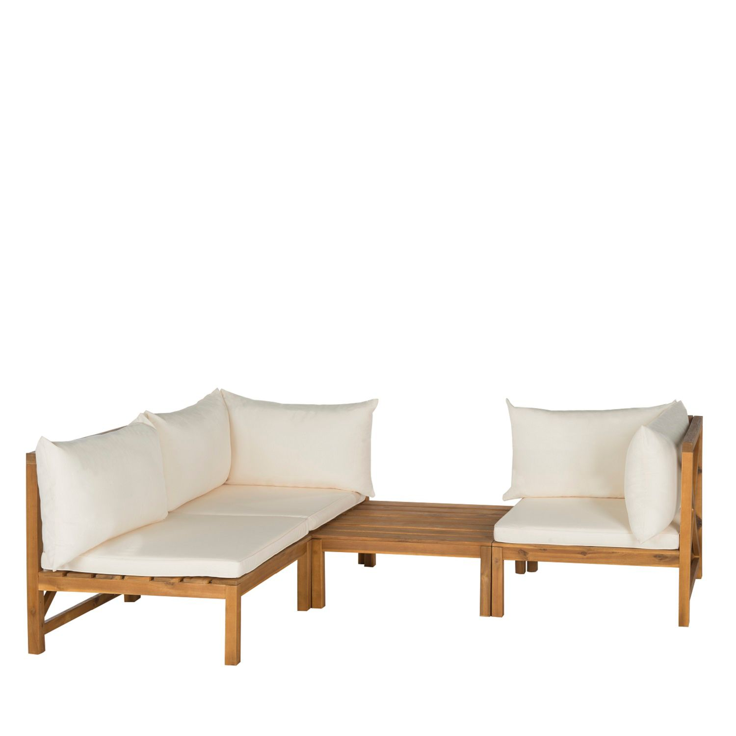 Safavieh Lynwood 3 Piece Outdoor Sectional Sofa Set