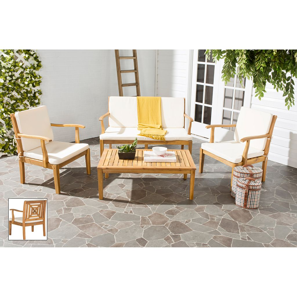 Safavieh Del Mar 4-piece Outdoor Set