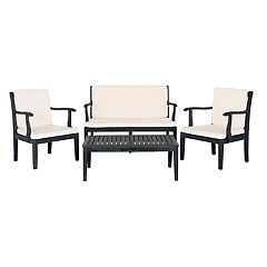 Safavieh Del Mar Indoor / Outdoor Loveseat, Chair & Coffee Table 4-piece Set