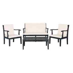 Safavieh Del Mar Indoor / Outdoor Loveseat, Chair & Coffee Table 4-piece Set