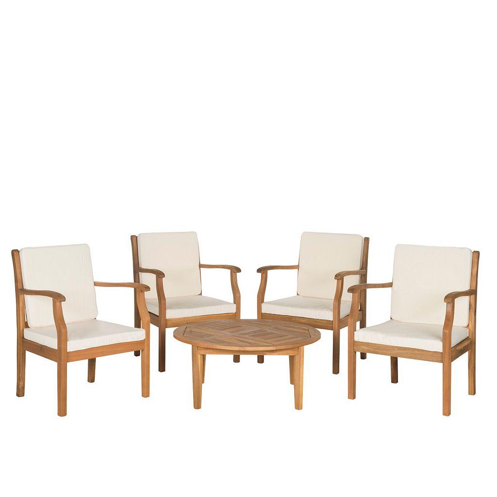 Safavieh Anaheim 5-piece Coffee Table Outdoor Set