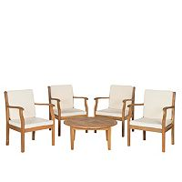 Safavieh Anaheim 5-piece Coffee Table Outdoor Set