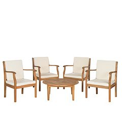 Safavieh Anaheim 5 pc Coffee Table Outdoor Set
