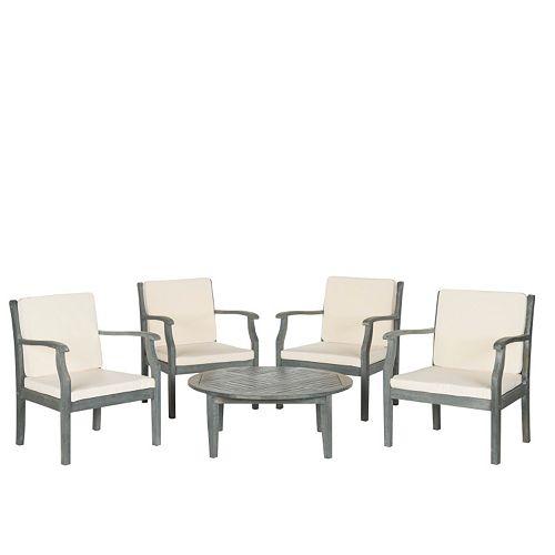 Safavieh Colfax 5-piece Coffee Table Outdoor Set