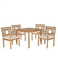 Safavieh Montclair Indoor / Outdoor Dining Table & Chair 5-piece Set