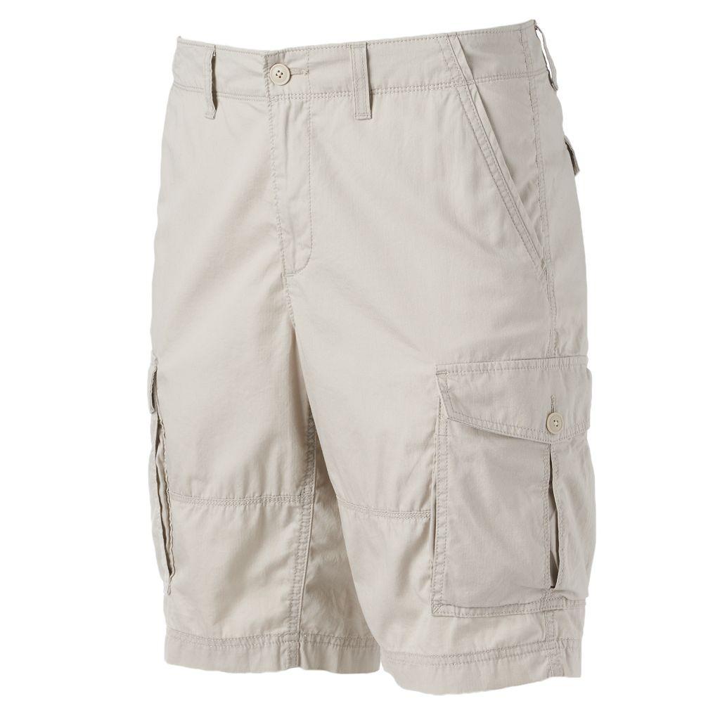 Men's SONOMA Goods for Life™ Lightweight Herringbone Solid Cargo Shorts