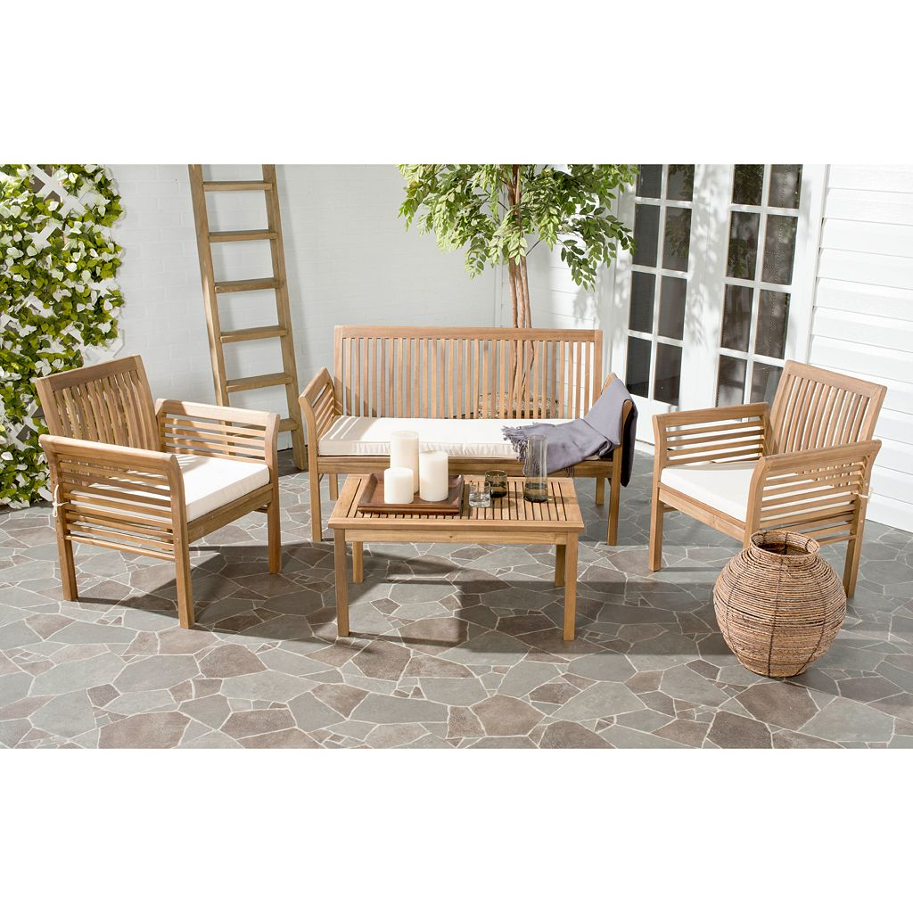 Safavieh Carson 4-piece Outdoor Set