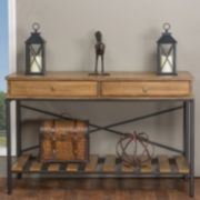 Baxton Studio Newcastle Crisscross Console Table