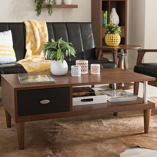Baxton Studio Eastman TV Stand & Coffee Table