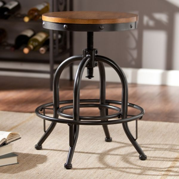 Boston Loft Furnishings Dunbar Industrial Style Kitchen: Industrial Adjustable Stool