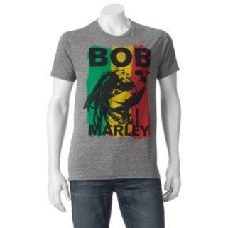 Men's Bob Marley Stripe Graphic Tee