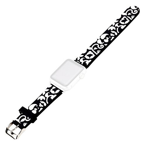 French Bull Apple Watch Accessory Wristband - Black Vines