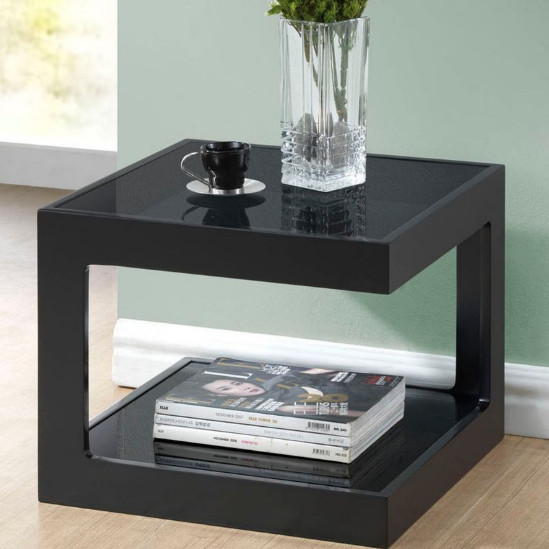 Baxton Studio Clara End Table, Black