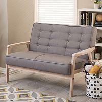 Baxton Studio Mid-Century Timor Loveseat Sofa