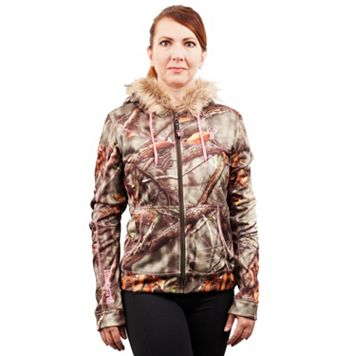 Women's Huntworth Active Camo Hooded Fleece Hiking Jacket