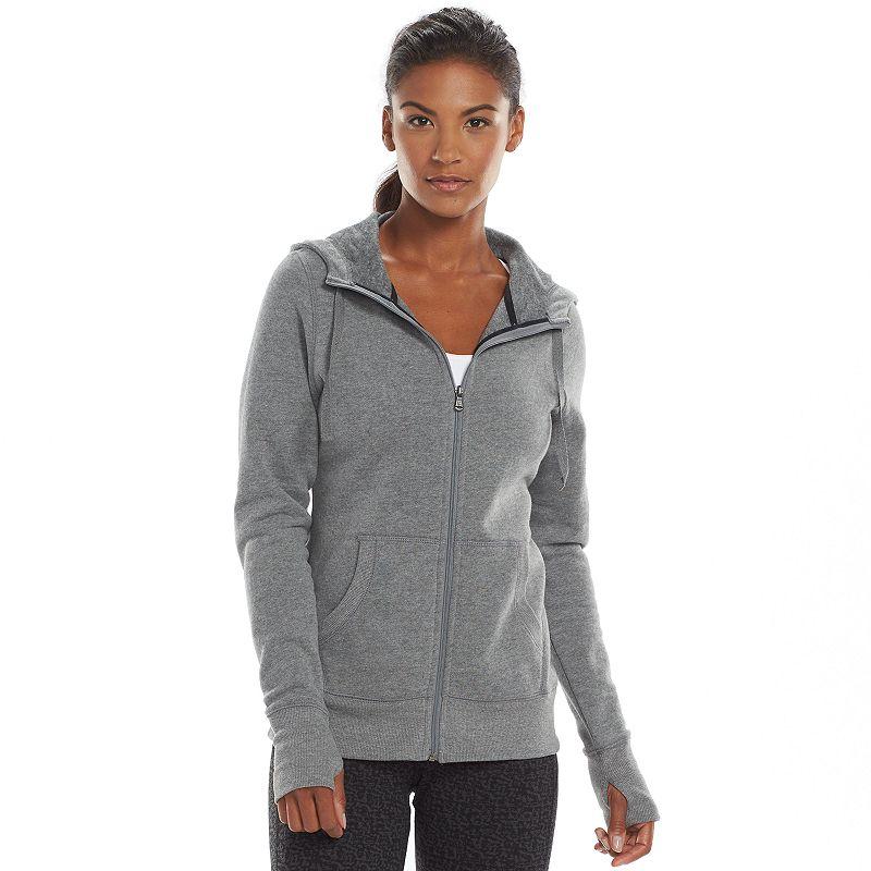 Tek Gear Scuba Neck Full-Zip Fleece Hoodie - Women's