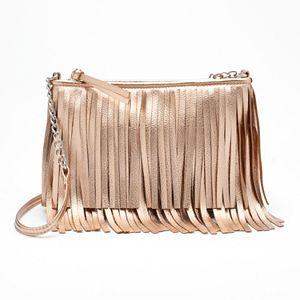Candie's® Kristina Fringe Crossbody Bag