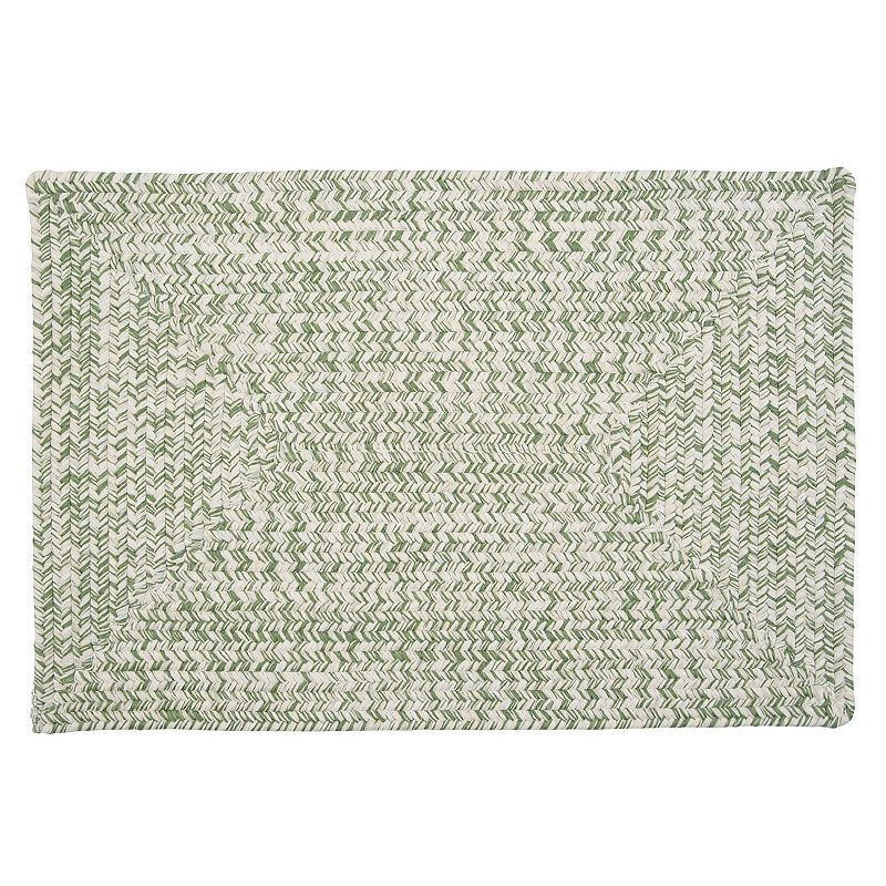 Colonial Mills Antigua Braided Reversible Indoor Outdoor Rug, Green, 8X10 Ft Product Image