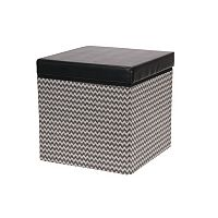 Household Essentials Chevron Collapsible Storage Ottoman