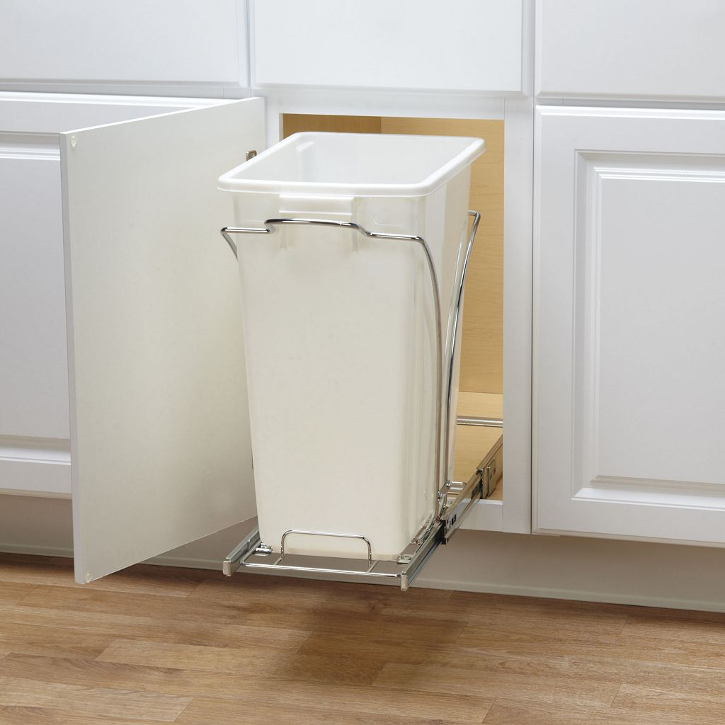 Glidez 2-pc. Under-Cabinet Roll-Out Caddy & 9-Gallon Trash Can Set