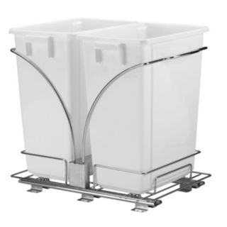 Glidez 3-pc. Under-Cabinet Roll-Out Caddy & 9-Gallon Trash Can Set
