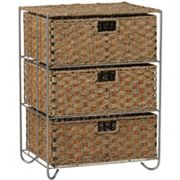 Household Essentials Seagrass Rattan 3-Drawer Chest