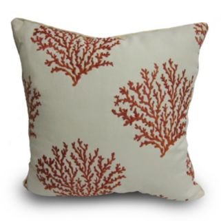 Home Fashions International O'Coral Reef Indoor Outdoor Throw Pillow