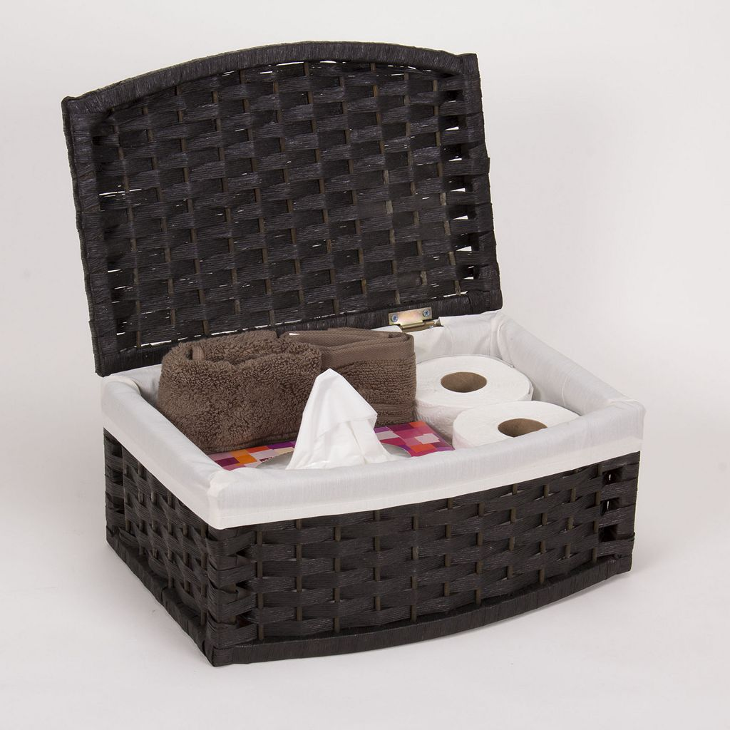 Household Essentials Lined Paper Rope Basket
