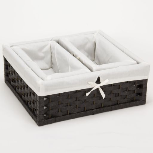 Household Essentials 3-pc. Lined Paper Rope Utility Basket Set