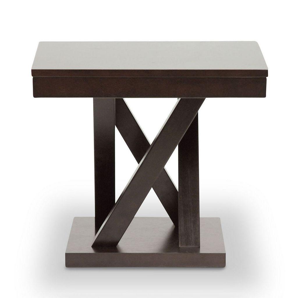 Baxton Studio Everdon Designer End Table