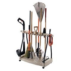 Suncast Wheeled Outdoor Tool Rack