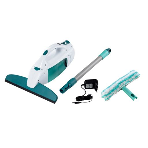 Leifheit Click System 4-pc. Window Vacuum, Window Washer, Handle & Charger Set