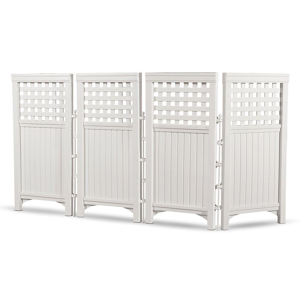 Suncast 4-piece 2' x 3.5' Lattice Outdoor Screen Enclosure Set