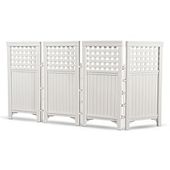 Suncast 4 pc 2' x 3.5' Lattice Outdoor Screen Enclosure Set
