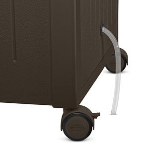 Suncast 77-Quart Wheeled Outdoor Wicker Cabinet Cooler